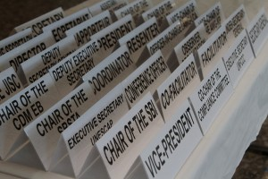 UNFCCC secretariat placards